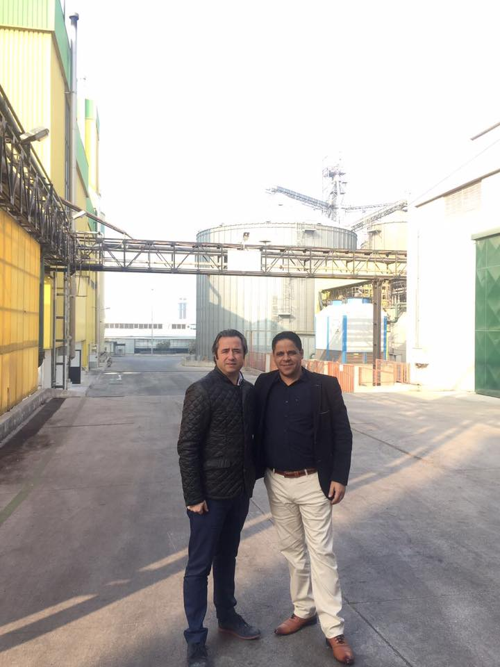 Mr. Akram Hesham, the General Manager with Mr. Ozcan Turhan, Foreign Trade Manager of Yonca Gida Sanayi during his visit to Yonca